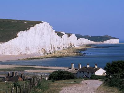The Seven Sisters, East Sussex, England, United Kingdom-John Miller-Photographic Print
