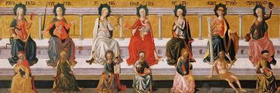 The Seven Virtues-Francesco Di Stefano Pesellino-Giclee Print