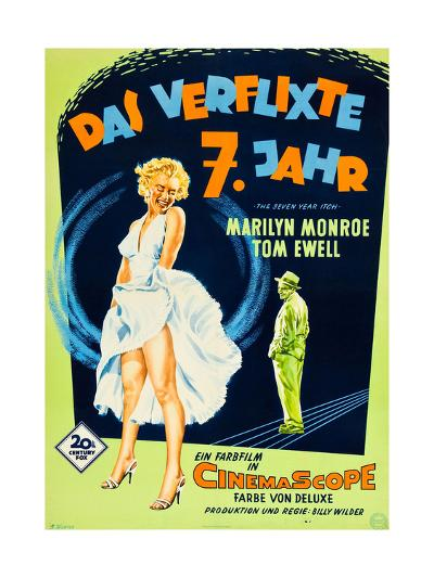 The Seven Year Itch, (aka Das Verflixte 7 Jahr), Marilyn Monroe, Tom Ewell, 1955--Giclee Print