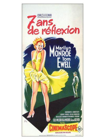 The Seven Year Itch, French Movie Poster, 1955--Art Print