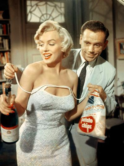 The Seven Year Itch, Marilyn Monroe, Tom Ewell, 1955--Photo