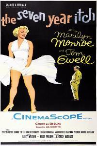 The Seven Year Itch, US Poster Art, Marilyn Monroe, Tom Ewell, 1955