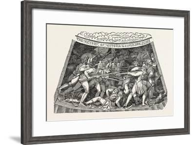 The Seventh Compartment of the Wellington Shield. the Wellington Shield 1820--Framed Giclee Print