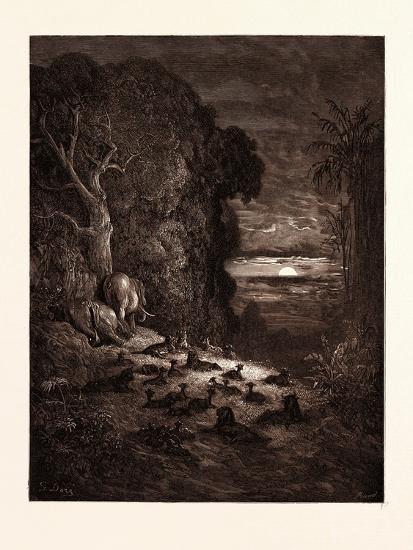 The Seventh Evening in Eden-Gustave Dore-Giclee Print