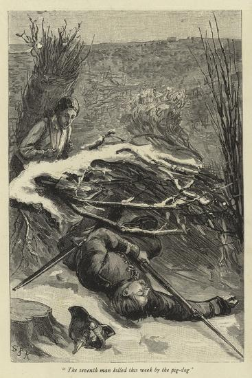 The Seventh Man Killed This Week by the Pig-Dog--Giclee Print