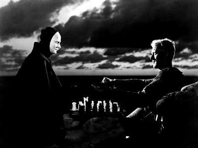 The Seventh Seal, Bengt Ekerot, Max Von Sydow, 1957--Photo