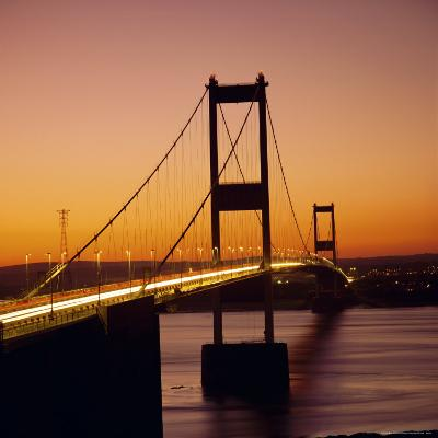 The Severn Bridge at Sunset, England, UK-Roy Rainford-Photographic Print