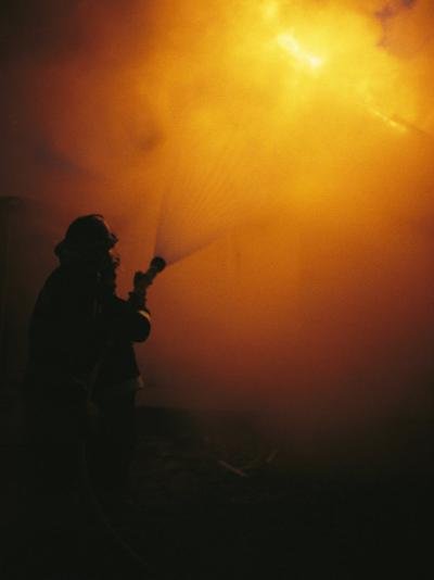The Sewanee Volunteer Fire Department Practices Firefighting-Stephen Alvarez-Photographic Print
