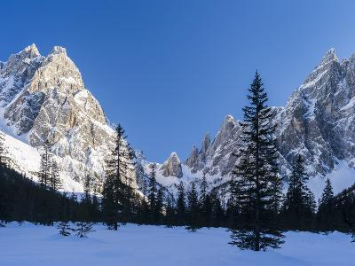 The Sexten Sundial, Valley Fischleintal, Sexten Dolomites, Italy-Martin Zwick-Photographic Print