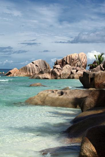 The Seychelles, La Digue, Beach, Anse Coco-Catharina Lux-Photographic Print