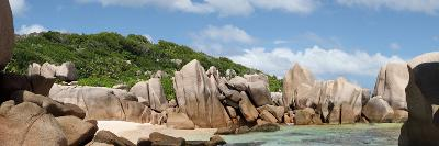 The Seychelles, La Digue, Beach, Rocks, Anse Marron, Panorama-Catharina Lux-Photographic Print