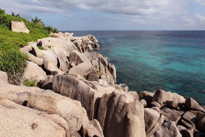 The Seychelles, La Digue, Beach, Rocks, Anse Marron-Catharina Lux-Photographic Print