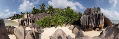 The Seychelles, La Digue, Beach, Rocks, Anse Source D' Argent, Panorama-Catharina Lux-Photographic Print
