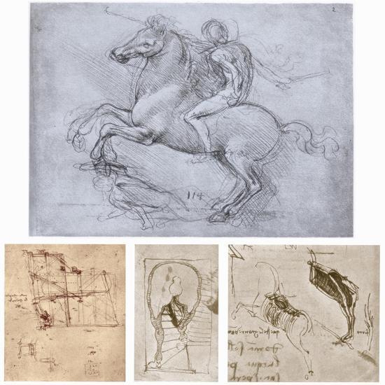 The Sforza Monument, C1488-1493-Leonardo da Vinci-Giclee Print