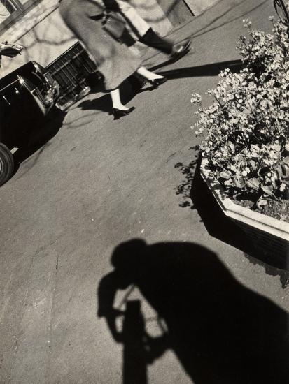 The Shadow of a Photographer on a Street in Rome-Luigi Leoni-Photographic Print