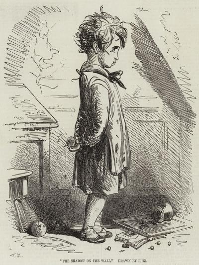 The Shadow on the Wall-Hablot Knight Browne-Giclee Print