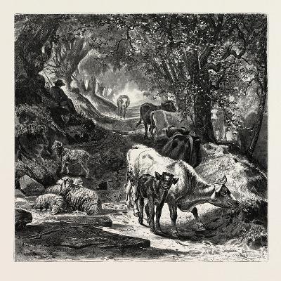 The Shady Lane-Peter Moran-Giclee Print