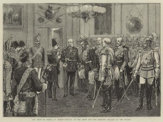 The Shah of Persia at Berlin, Arrival of the Shah and the Emperor William at the Palace--Giclee Print