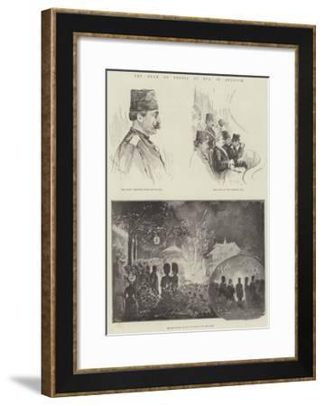 The Shah of Persia at Spa, in Belgium-Henry Charles Seppings Wright-Framed Giclee Print