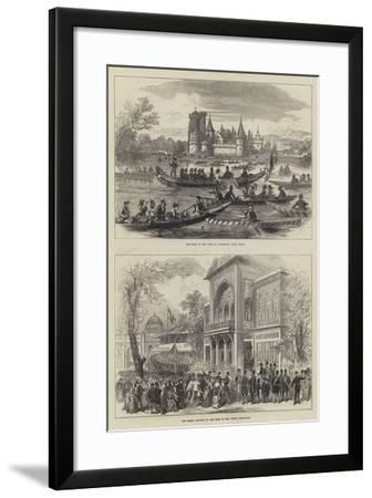 The Shah of Persia in Austria--Framed Giclee Print