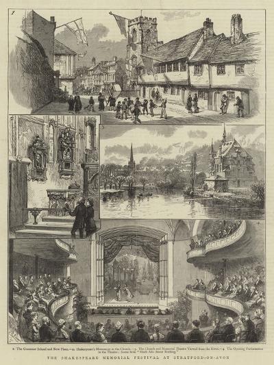The Shakespeare Memorial Festival at Stratford-On-Avon--Giclee Print