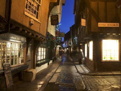 The Shambles at Christmas, York, Yorkshire, England, United Kingdom, Europe-Mark Sunderland-Photographic Print