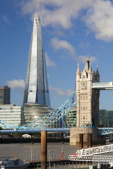 The Shard and Tower Bridge, London, England, United Kingdom, Europe-Miles Ertman-Photographic Print
