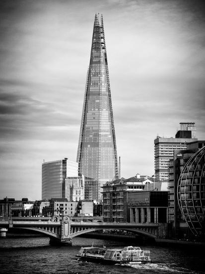 The Shard Building and The River Thames - London - UK - England - United Kingdom - Europe-Philippe Hugonnard-Photographic Print