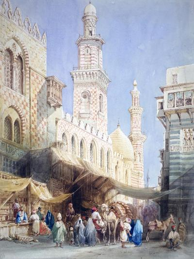 The Sharia El Gohargiyeh, Cairo, 19th Century-William Henry Bartlett-Giclee Print