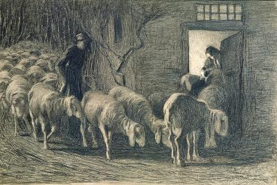 The Sheepfold, 1887-Giovanni Segantini-Giclee Print