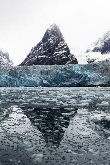 The Sheer Fracture Zone of a Glacier Sandwiched Between Alpine Peaks in a Fjord-Jason Edwards-Photographic Print