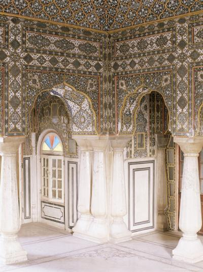 The Sheesh Mahal (Mirrored Hall) (Hall of Mirrors), the City Palace, Jaipur, Rajasthan State, India-John Henry Claude Wilson-Photographic Print