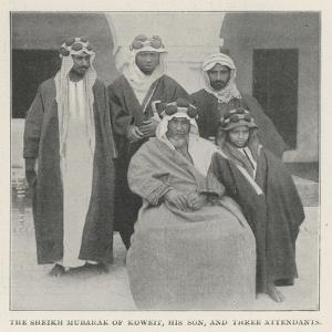 The Sheikh Mubarak of Koweit, His Son, and Three Attendants
