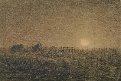 The Shepherd at the Fold by Moonlight-Jean-Fran?ois Millet-Giclee Print