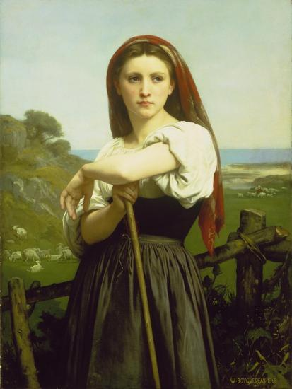 The Shepherdess, 1868-William Adolphe Bouguereau-Giclee Print