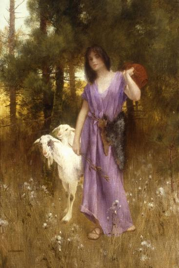 The Shepherdess-Carl Wunnerberg-Giclee Print