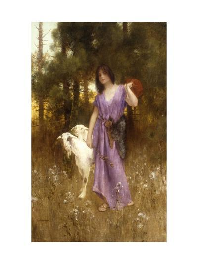 The Shepherdess-Carl		 Wunnenberg-Giclee Print