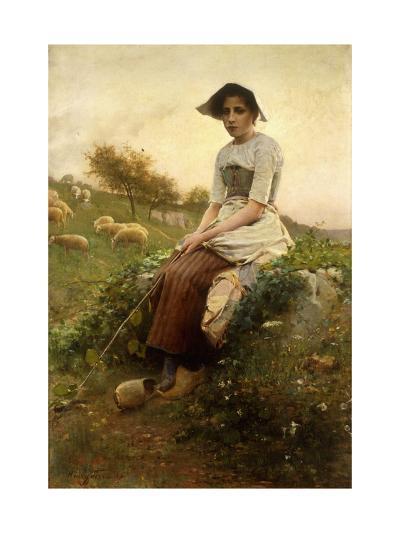 The Shepherdess-Henri Paul Perrault-Giclee Print