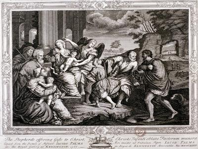 The Shepherds Offering Gifts to Christ, 1733-Jacopo Palma-Giclee Print