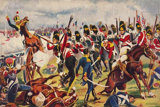 'The Sherwood Foresters. The Advance of The Sherwood Foresters at Salamanca', 1812, (1939)-Unknown-Giclee Print