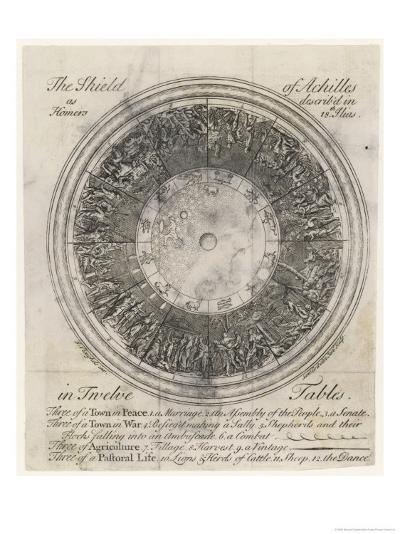 The Shield of Achilles in 12 Tables: 3 of a Town in Peace-Samuel Gribelin-Giclee Print