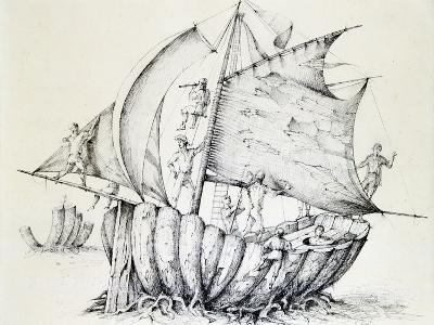 The Ship, C1850-1890-Stanislas Lepine-Giclee Print