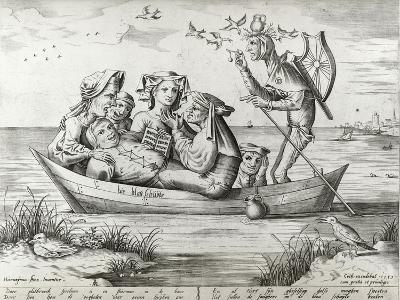 The Ship of Fools, Engraved by Pieter Ven Der Heyden, 1559-Hieronymus Bosch-Giclee Print