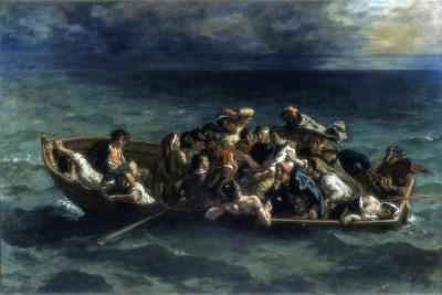 The Shipwreck of Don Juan, 1840-Eugene Delacroix-Giclee Print