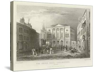 The Shire Hall, Chelmsford, Essex-William Henry Bartlett-Stretched Canvas Print