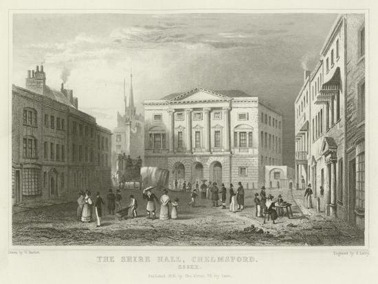 The Shire Hall, Chelmsford, Essex-William Henry Bartlett-Giclee Print