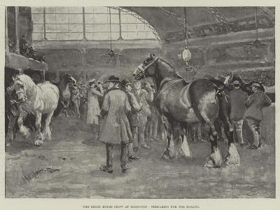 The Shire Horse Show at Islington, Preparing for the Parade--Giclee Print