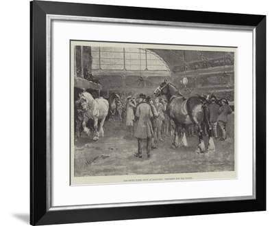 The Shire Horse Show at Islington, Preparing for the Parade--Framed Giclee Print