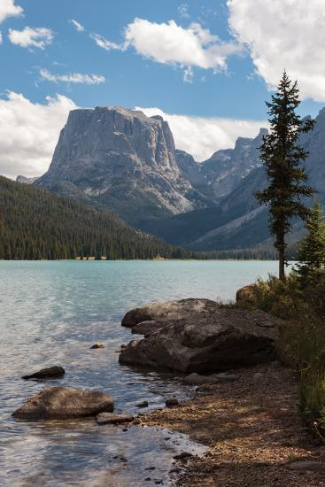 The Shore Of Upper Green River Lake And Square Top Mountain-Greg Winston-Photographic Print