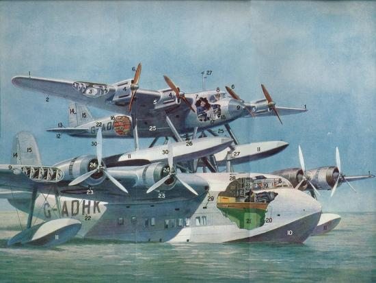 The Short-Mayo Composite Aircraft, c1937 (c1937)-Unknown-Giclee Print
